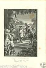 LOUIS XV ENFANT CHILD ROI FRANCE GRAVURE ANTIQUE PRINT 1874
