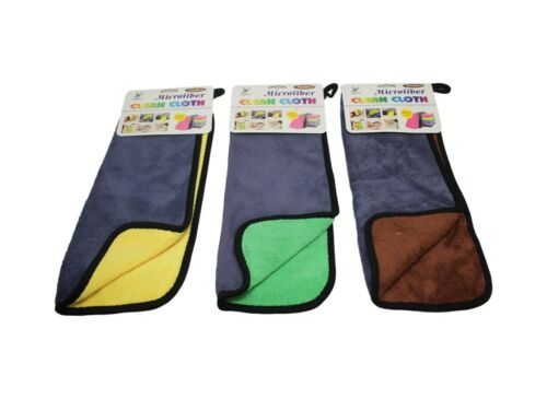 2pc Towels Microfiber Thick Plush Cloth For Washing Cleaning Drying Car Kitchen