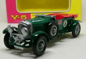 In-scatola-MATCHBOX-Models-OF-YESTERYEAR-Y-5-1929-Bentley-4-1-2-LITRI-1962-1969