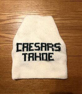 CAESAR'S TAHOE Vintage Ski BEANIE Toque Hat Cap CALIFORNIA NEVADA Barely Used!