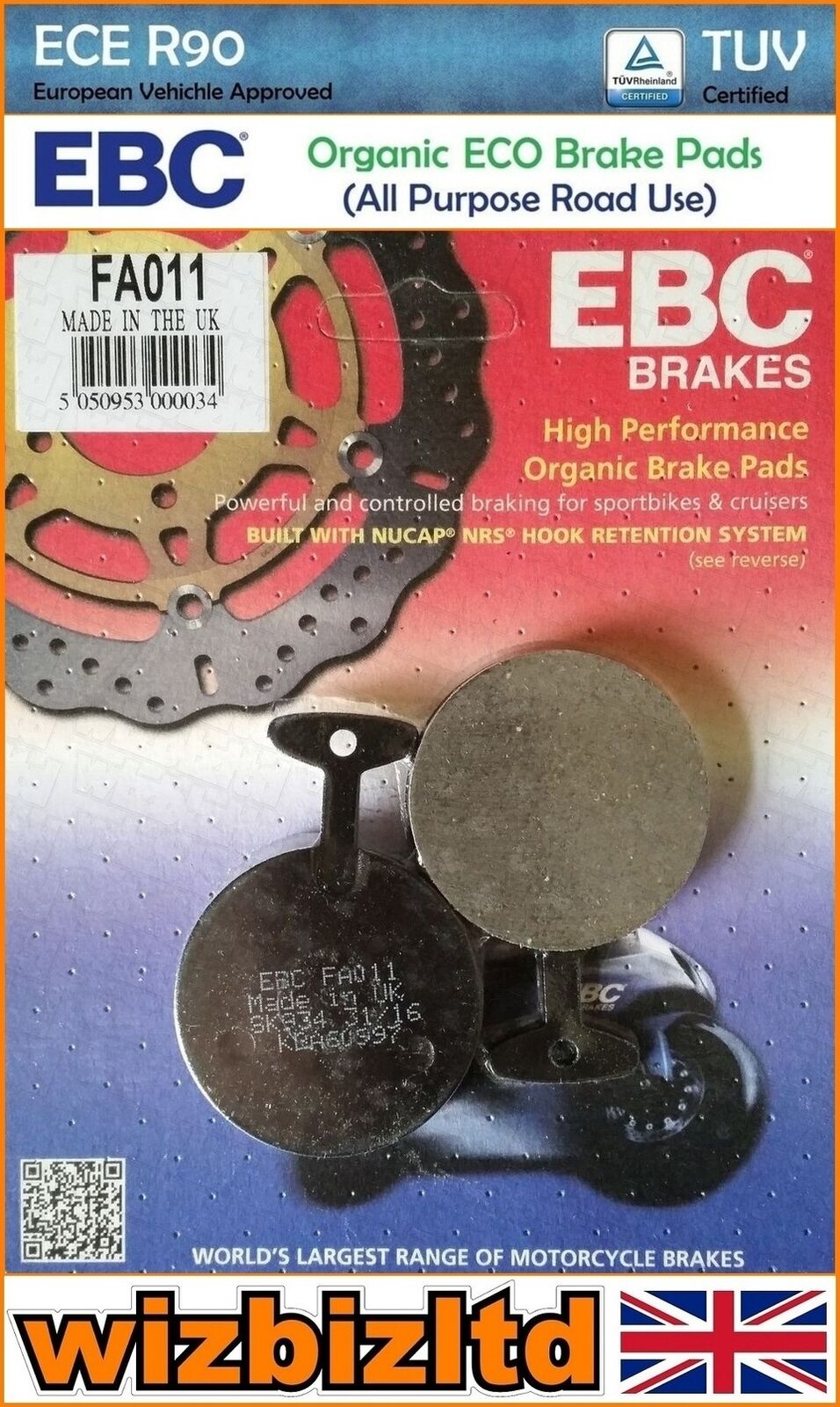 Yamaha YZ 250 W 1P8A 2T 2007 Full Set Sintered Brake Pads