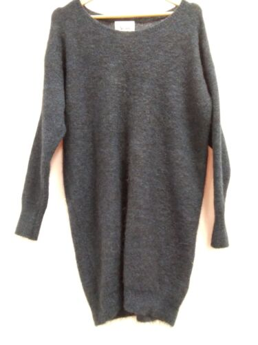 ACNE One Piece Dress Acne Knit  Navy Xs B1502