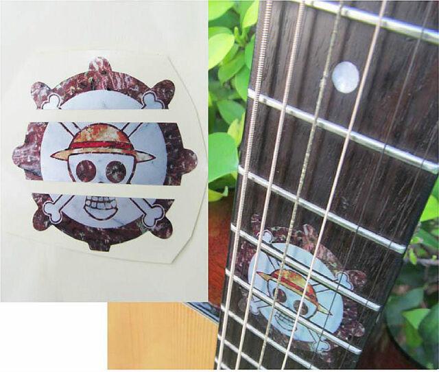 Guitar Inlay Stickers Cartoon Decals