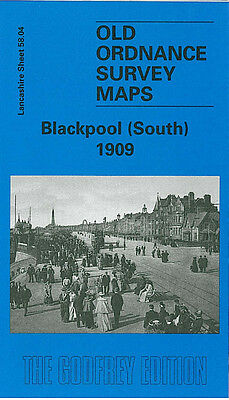 OLD ORDNANCE SURVEY MAP BLACKPOOL CENTRAL PIER 1909 GOLDEN MILE BLOOMFIELD ROAD