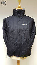 #389 Berghaus Black Calisto Aquafoil Lightweight Waterproof Raincoat, UK 14