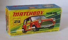 Repro Box Matchbox Superfast Nr.29 Racing Mini