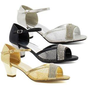 Nouveau Femme Basse Chaton Talon Mariée Strass Sandales Femmes à Lanières Mariage Chaussures-afficher Le Titre D'origine CoûT ModéRé