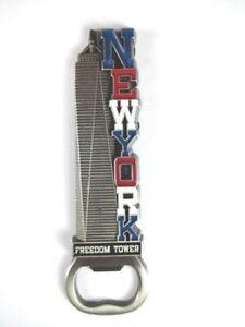 New-York-Metall-Magnet-Flaschenoeffner-Freedom-Tower-Bottle-Opener-Neu