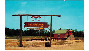 Details about 1960 postcard-Pan for Gold, Old Grist Mill, Frontier Town   Ocean City, Maryland