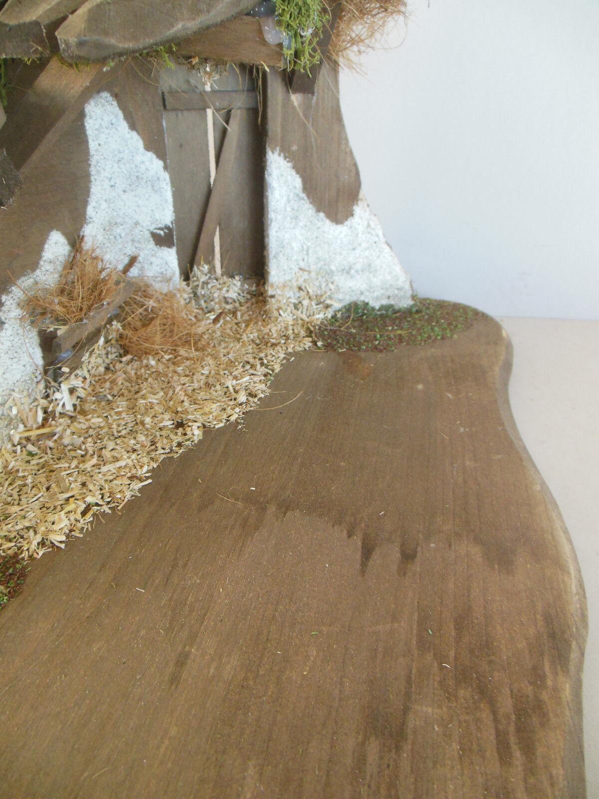 Krippenstall mit Baum f. Krippenfiguren Größe 12 12 12 cm,Holzstall Sonderpreis Nr. 15   Tragen-wider  f74b4c