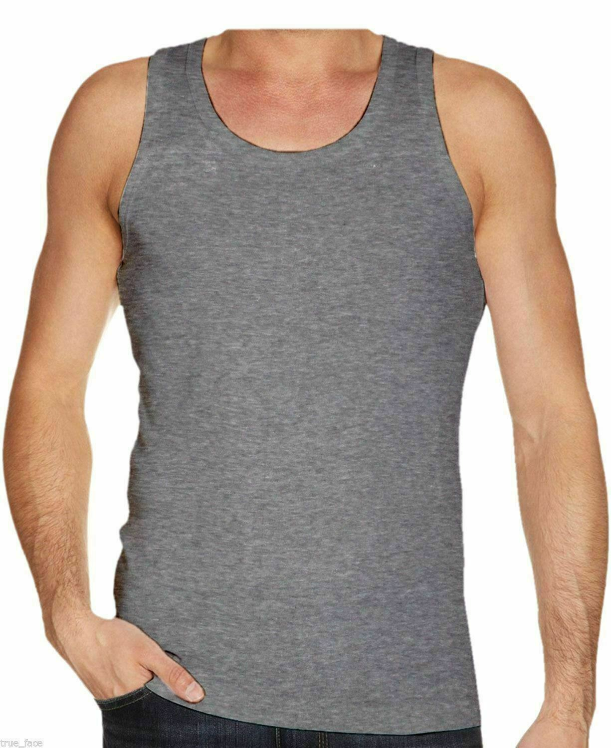 MORAJ SLEEVELESS MAN COTTON 100/% TANK TOP T-SHIRT ATHLETIC VEST 2 MODEL STRAPS