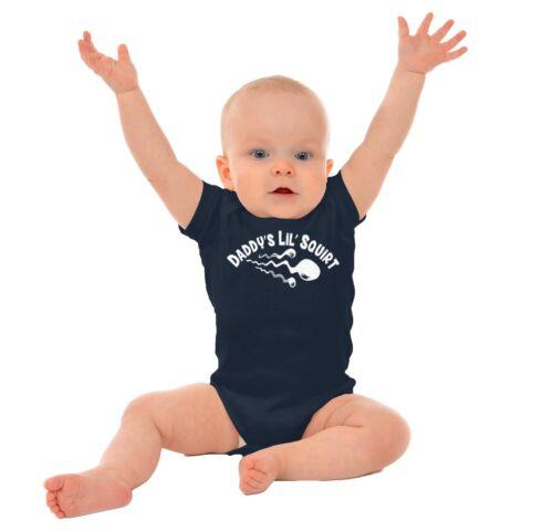 Daddys Lil Squirt Drôle Douche Idée Cadeau Nouveau-né Ange Body pour bébés