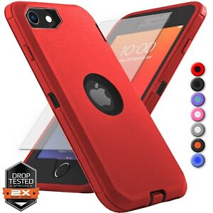 For Apple iPhone SE 2020 2nd Gen Rugged Shocproof Case Cover + Screen Protector