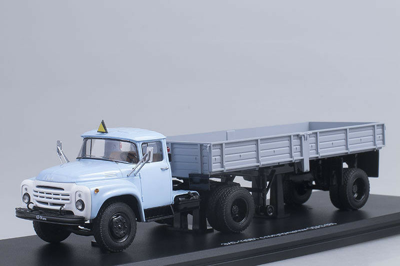 ZIL 130V1 tractor (late grille) with ODAZ 885 semitrailer  1 43 Start Scale Mode