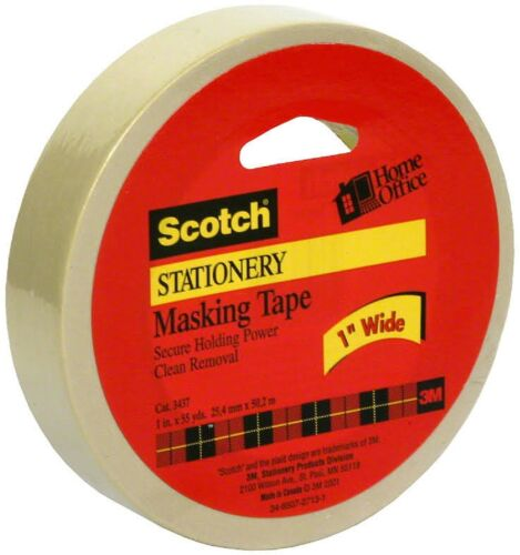 Pack of 3 Scotch Stationery Masking Tape 1in x 55yd 1 ea
