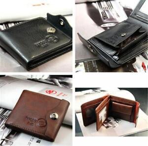 Men-039-s-PU-Leather-Bifold-ID-Credit-Cards-Holder-Purse-Wallet-Button-Billfold-JA