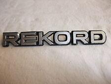 o1g Original Oldtimer Auto Emblem Typenschild alter Schriftzug Marke Opel REKORD
