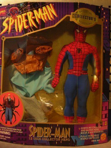 Spider-Man 12 Inch Figure Peter Parker Collector Hero Marvel Comics Rare Coll...
