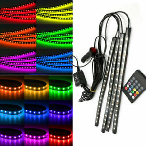 4-x-18-LED-Car-Interior-RGB-Atmosphere-Strip-Light-Footwell-Decorative-Neon-Lamp