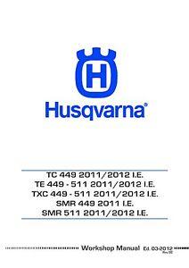 husqvarna tc449 te449 txc449 full service repair manual 2011 2013