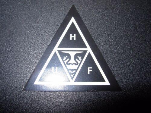 "OBEY X HUF WORLDWIDE Skate Sticker BlkWht Triangle 1.75/"" decal Shepard Fairey"