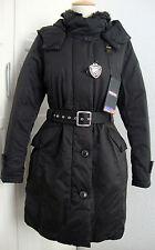 Blauer estados unidos plumón abrigo chaqueta Parka señora capucha negra marrón talla M NUEVO + etiqueta