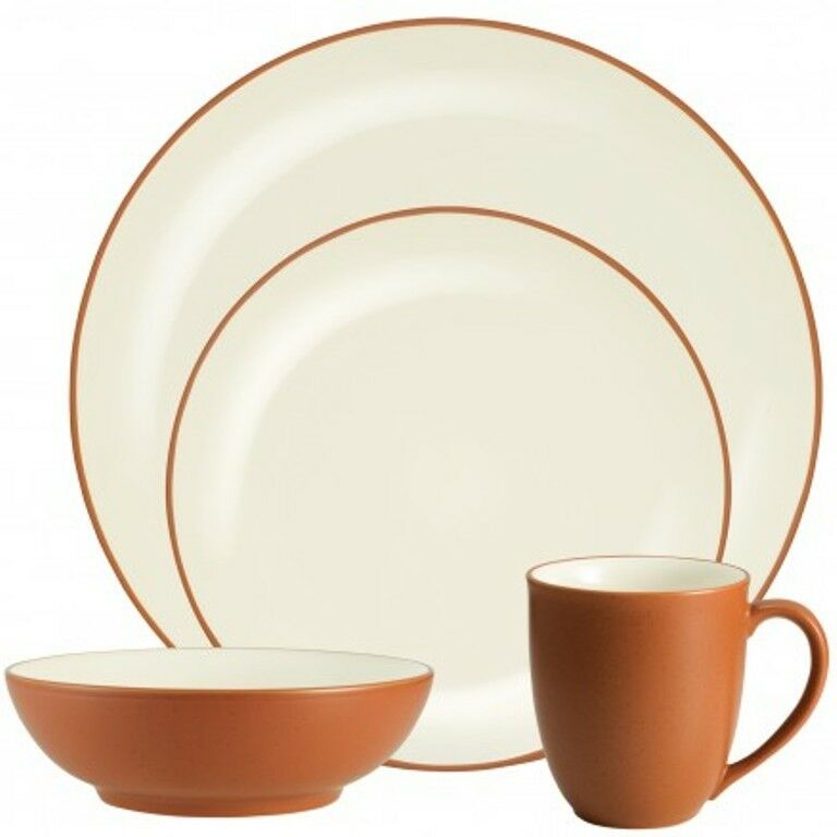 Noritake Couleurwave Terra Cotta Coupe 32Pc Dinnerware Set, service pour 8