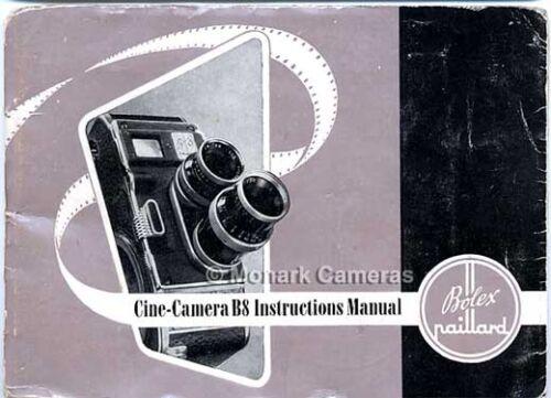 Bolex B8 8 Mm Cine Manual de la Cámara más los libros de instrucción y guías del usuario en venta