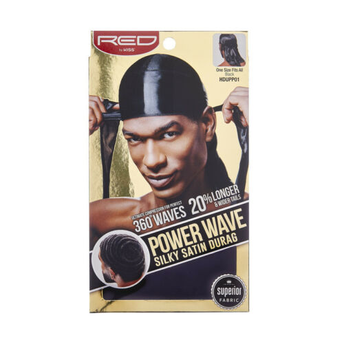 RED by KISS Power Wave Silky Satin Durag 360 Waves HDUPP07 Buy1 Get1 50/% Off
