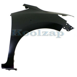 Fender For 2007-2009 Toyota Prius Front Passenger Primed Steel with Molding Hole