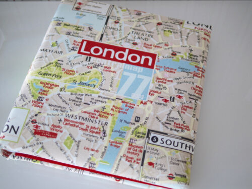 Stoff bezogen Fotoalbum Jumbo Fotobuch LONDON Stadtplan