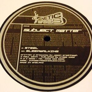 Subject-Matter-Steel-Sleepwalking-12-034-Vinyl-Drum-and-Bass-Genetic-Stress-recs