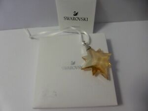 Swarovski Ornament Gold Star 2019 With Certificate