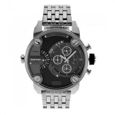 Diesel Men Watch Silver Stainless Bracelet 50MM LITTLE DADDY Chronograph  DZ7259 9b806dc9d13