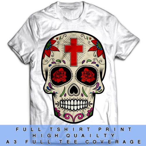 Sugar Skull Inspired Motorbike Biker Tumblr Fashion Disobey Urban T Shirt
