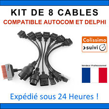 Lot de 8 Câbles additionnels compatibles Delphi, CDP+, pro,TCS, DS150e, Autocom