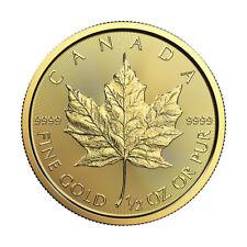 1/2 oz Gold 2018 Maple Leaf RCM - .9999 0.5 oz Gold Coin - Royal Canadian Mint