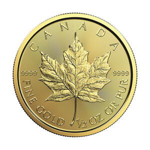 1/2 oz Gold 2018 Maple Leaf RCM - .9999 0.5 oz Gold Coin - Royal Canadian Mint