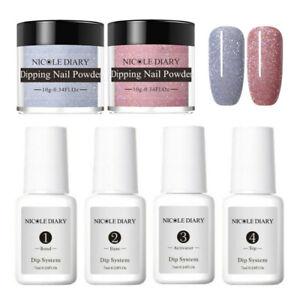 6Pcs-Set-NICOLE-DIARY-Dipping-Powder-Glitter-Dip-Liquid-Nail-Art-Pro-Starter-Kit