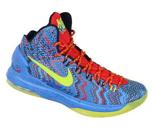 new arrival 02ca9 14171 Details about NIKE KD V Basketball Shoes sz 10 Christmas Edition Hyper Blue  Atomic Green 5