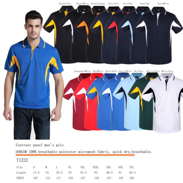 Breezeway contrast panel polo shirt S,M,L,XL,XXL,XXXL,5XL,6XL,7XL breathable