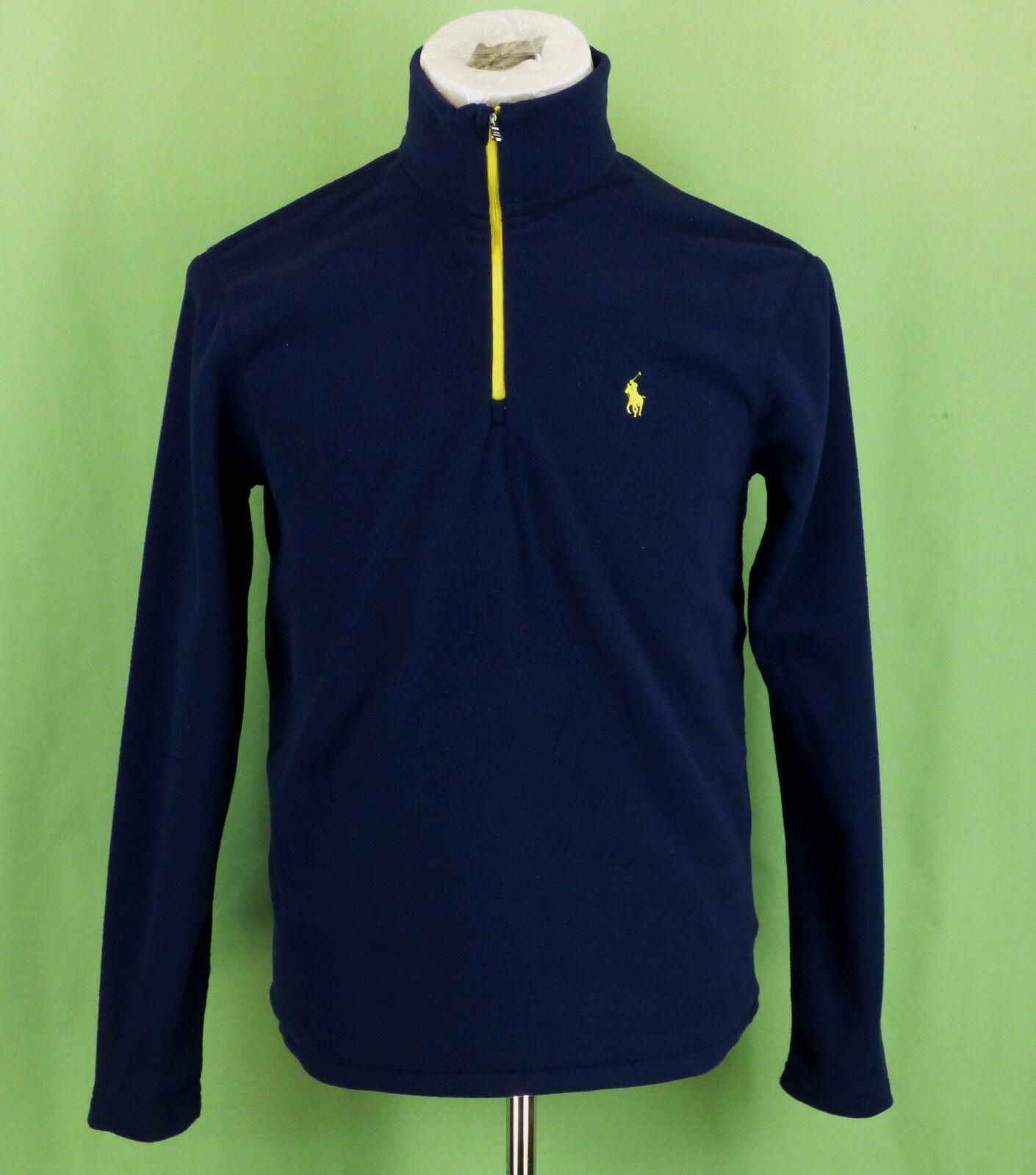 274 NWT Ralph Lauren men Fleece Navy top sweatshirt NEW Größe S