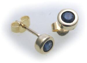 Ohrringe-Stecker-Safir-echt-Gold-750-Damen-Ohrstecker-18-karat-Gelbgold-Saphir