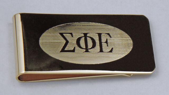 Sigma Phi Epsilon, ΣΦΕ, Money Clip Greek Letters In Brass  By McCartney