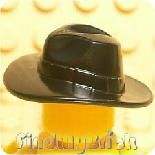 G150A Lego Indiana Jones Minifigure Fedora Hat Outback - Black NEW