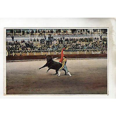 Passing The Bull - Bull Fighting Photo Postcard c1920's