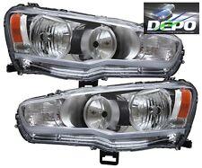 08-15 Mitsubishi Lancer Chrome Head Light Evo X DEPO
