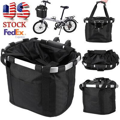Bicycle Front Basket Removable Waterproof Bike Handlebar Basket Pet Carrier T8V3