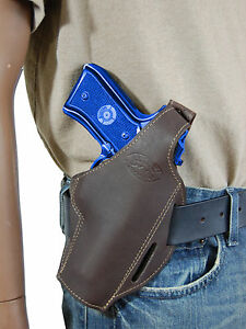 NEW Barsony Brown Leather Single Magazine Pouch FN GLOCK HK Full Size 9mm 40 45