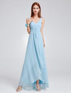 Details about Ever-Pretty Long V-neck Chiffon Bridesmaid Dresses Sky Blue Evening  Gown 09983 0829e69bd
